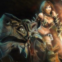 Tyris flaire Golden axe beast rider airbrushing painting