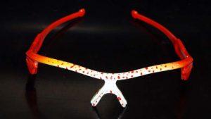 Splatter orange Oakley custom lunettes personnaliséesaérographie