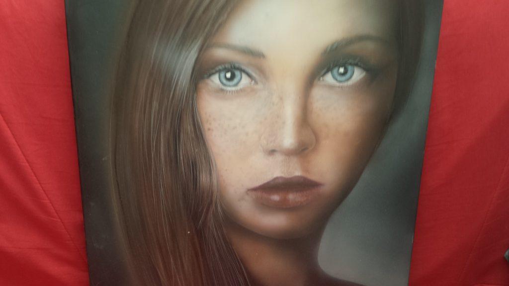 Portrait aérographe sur toile
