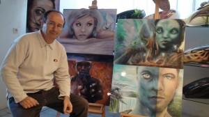 Raymond Planchat peintre aérographiste Lyon