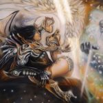 La genèse peinture sur toile heroic fantasy