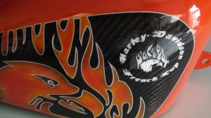 Harley orange racing 4