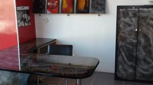 Peinture décoration sur bureau et meuble
