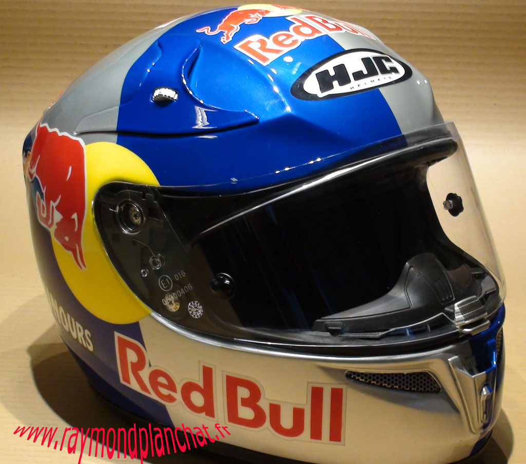 casque moto sport hjc red bull raymond planchat peintre a rographe cours de peinture vente. Black Bedroom Furniture Sets. Home Design Ideas