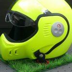 casque moto roof jaune fluo