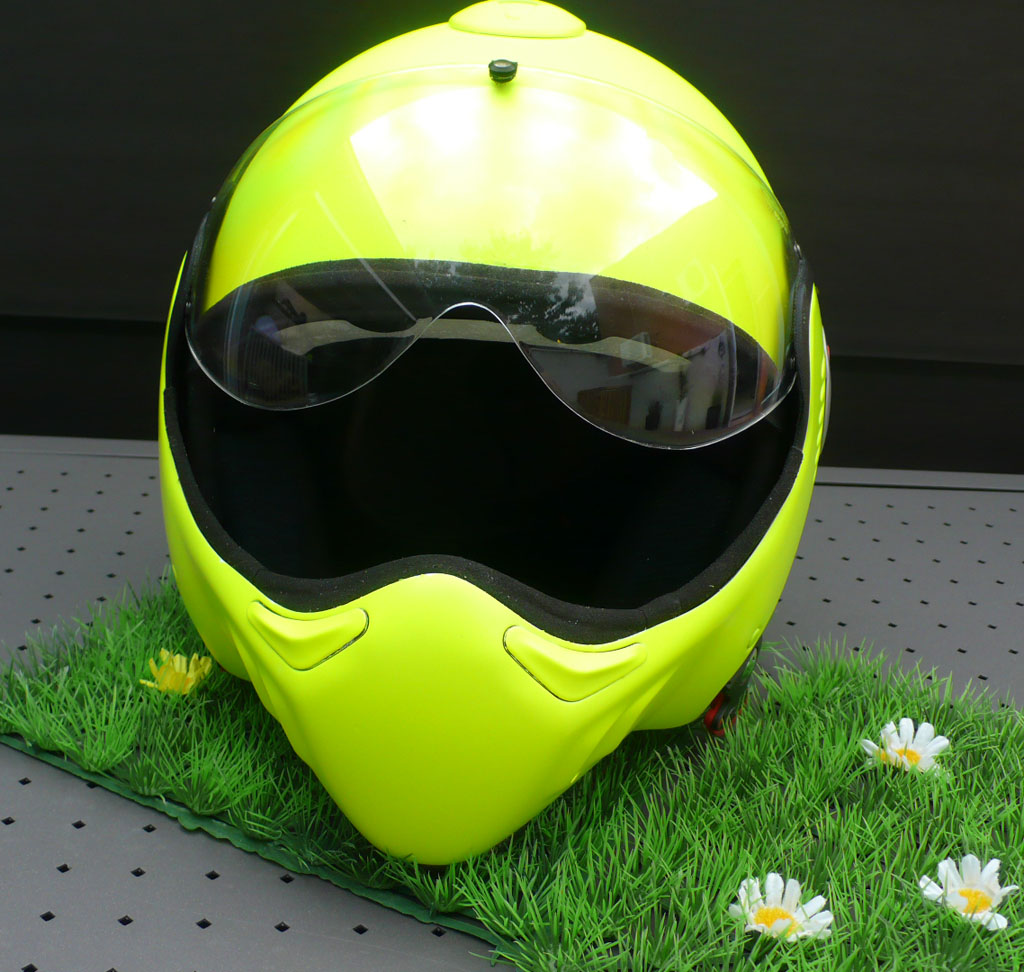 casque moto roof jaune fluo raymond planchat peintre a rographe cours de peinture vente. Black Bedroom Furniture Sets. Home Design Ideas