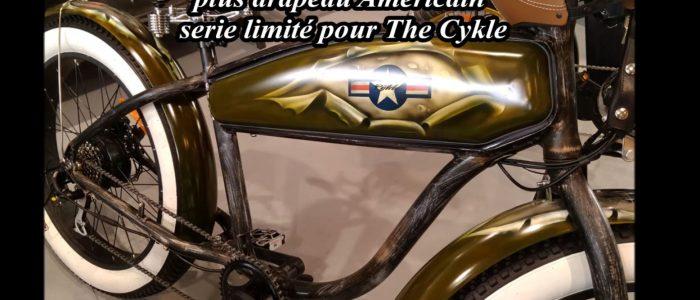 Vélo électrique  peinture aérographe  style US Army drapeau Américain