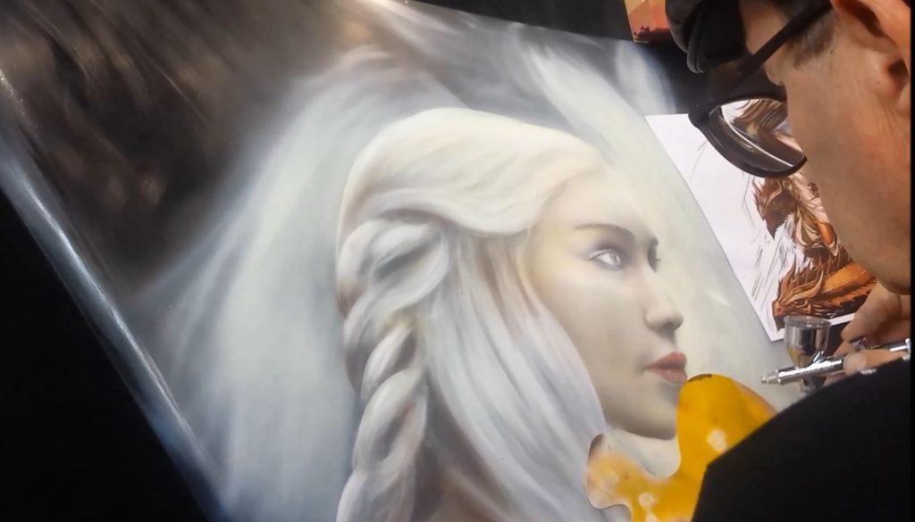 Peinture a rographe sur capot voiture coccinelle new for Eurexpo salon