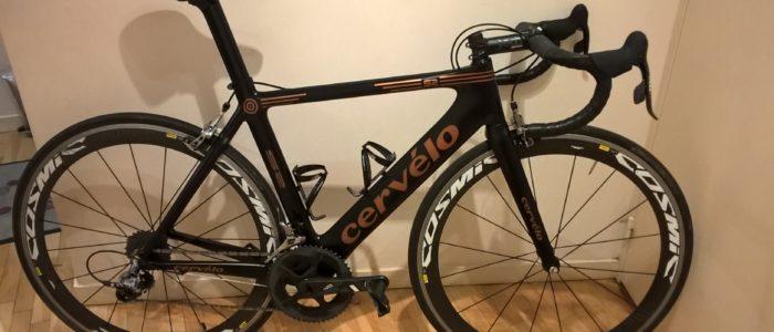peinture à l'aérographe personnalisation des pièces de vélo couleur bronze