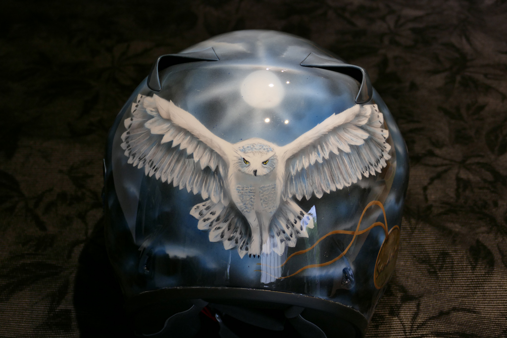 Cours aérographe initiation et perfectionnement sur casque moto
