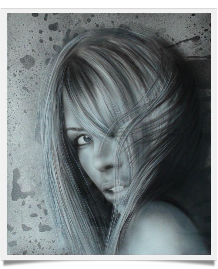 Portrait femme en noir et blanc raymond planchat peintre - Tableau moto noir et blanc ...