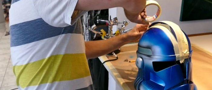Peinture sur casque Clone Trooper Impression 3D